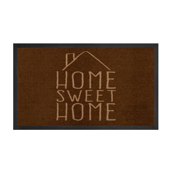 Design deurmat - Lucky Home Bruin Creme