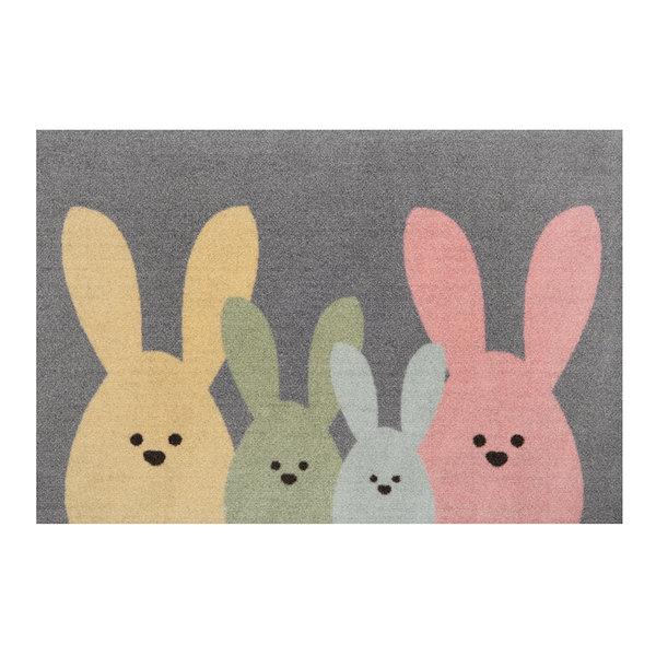 Design deurmat - Lucky Bunny Multicolor