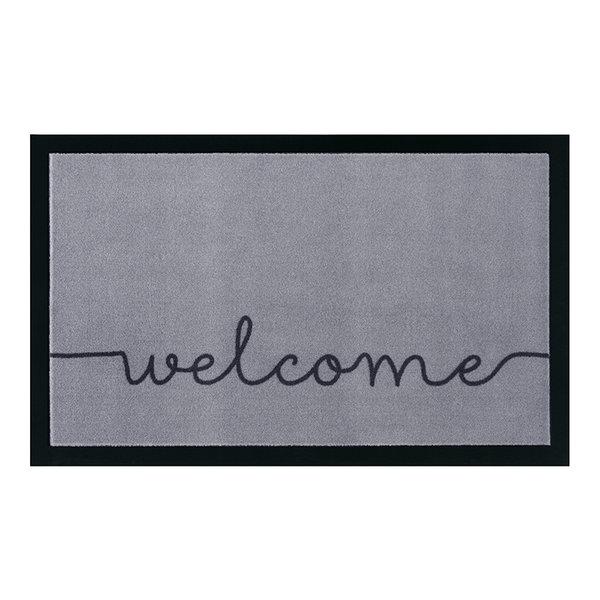 Design deurmat - Lucky Welcome Grijs