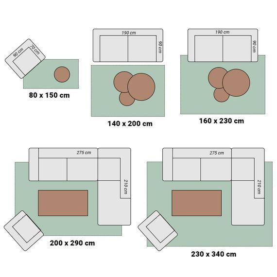 Effen vloerkleed - Casual Loop Antraciet