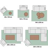 Hanse Home Klassiek vloerkleed - Natural ruit donkerbruin