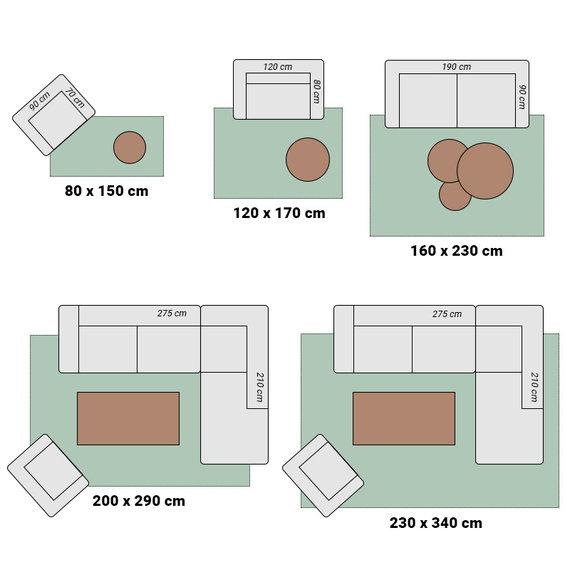Hanse Home Retro vloerkleed - Square zwart/creme