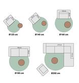 Mint Rugs Rond vloerkleed - Allure Hash Antraciet