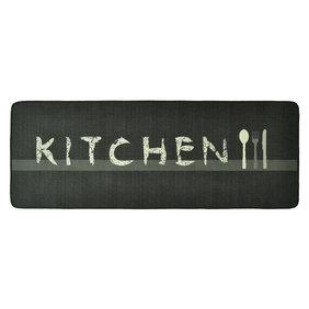 Hanse Home Wasbare keukenloper - Kitchen Diner Grijs Creme