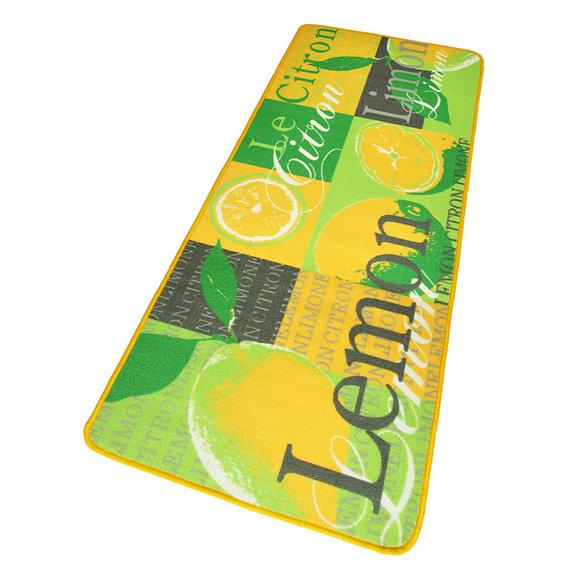 Hanse Home Wasbare keukenloper - Kitchen Lemon Geel Groen