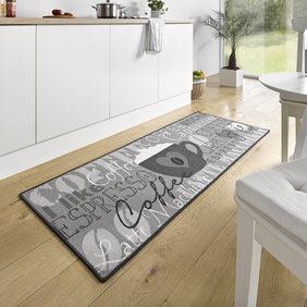 Hanse Home Wasbare keukenloper - Kitchen Cappuccino Grijs