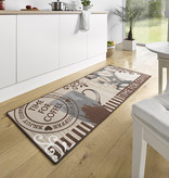 Hanse Home Wasbare keukenloper - Kitchen Coffee Time Bruin