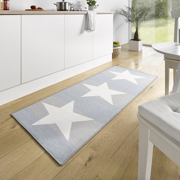Keukenloper - Kitchen Stars Wit Blauw