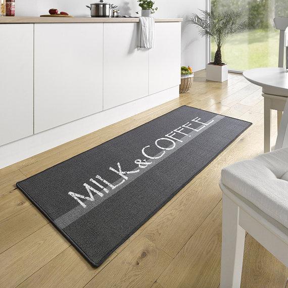 Hanse Home Wasbare keukenloper - Kitchen Milk & Coffee Grijs Wit