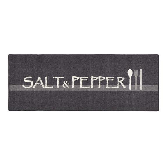 Hanse Home Wasbare keukenloper - Kitchen Salt & Pepper Grijs Wit