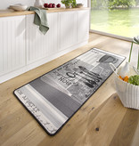 Hanse Home Wasbare keukenloper - Kitchen Bon Appetit Grijs Wit