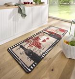 Hanse Home Wasbare keukenloper - Kitchen Chateau Zwart Rood