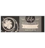 Zala living Keukenloper - Vibe Coffee Life Grijs