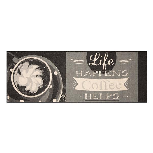 Keukenloper - Vibe Coffee Life Grijs