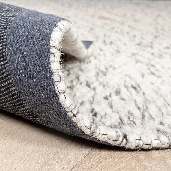 FRAAI Wollen vloerkleed - Melange Creme Gemeleerd