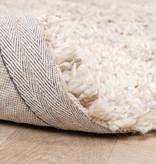 FRAAI Hoogpolig Wollen vloerkleed - Royal Creme / Taupe Gemeleerd