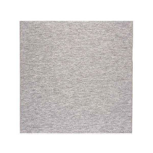 FRAAI Vierkant Buitenkleed - Summer Tile Lichtgrijs