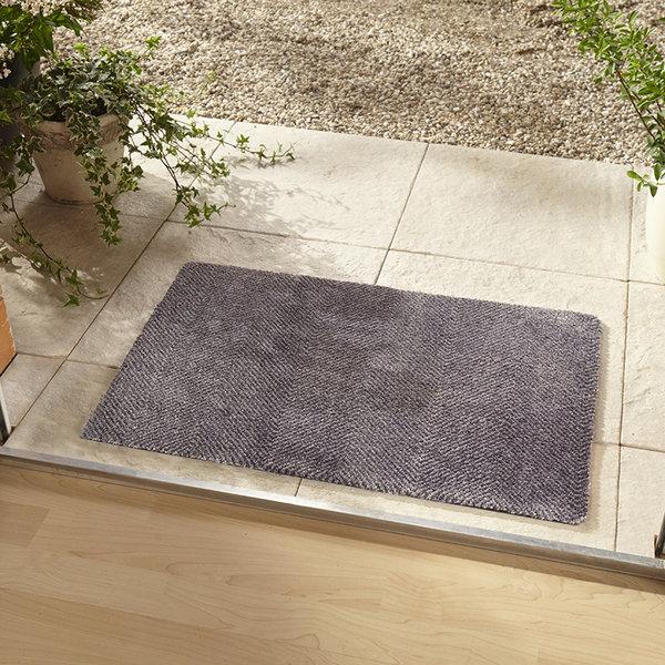 Effen deurmat - Clean & Go Grijs