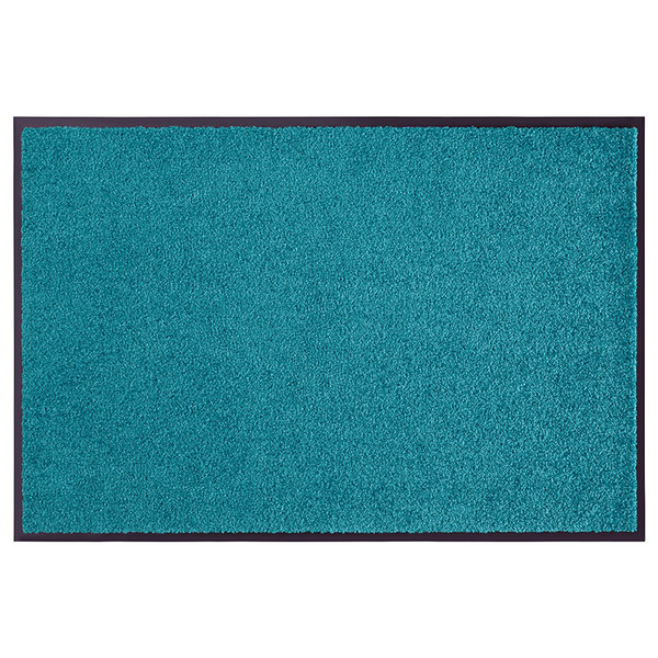 Wasbare deurmat - Wash and Clean Turquoise