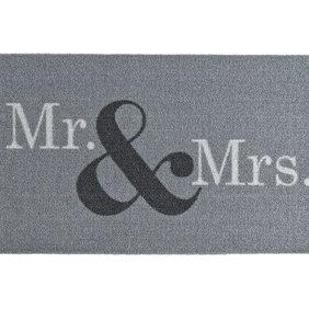 Zala living Design deurmat - Deko Mr & Mrs Grijs Wit