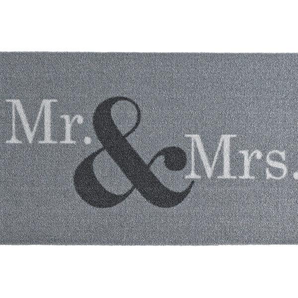Design deurmat - Deko Mr & Mrs Grijs Wit