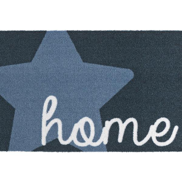 Design deurmat - Deko Ster Blauw
