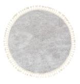 FRAAI Rond hoogpolig vloerkleed - Lofty Fringe Licht Grijs