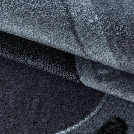 Adana Carpets Modern vloerkleed - Streaky Path Zwart Grijs