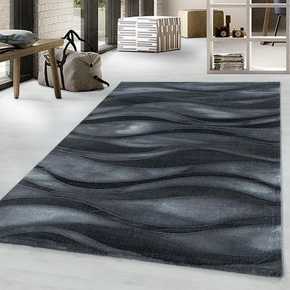 Adana Carpets Modern vloerkleed - Streaky Current Zwart Grijs