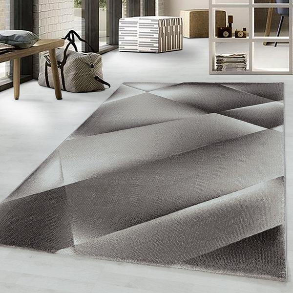 Modern vloerkleed - Streaky Design Bruin