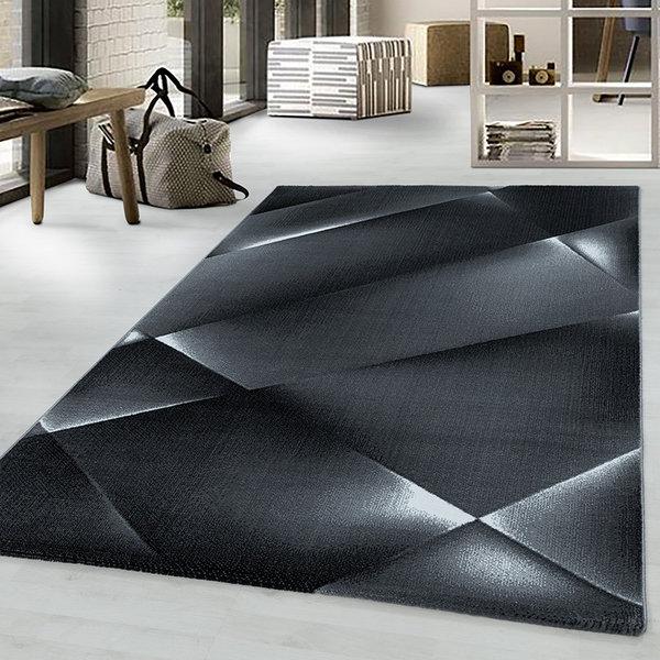 Modern vloerkleed - Streaky Design Zwart