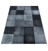 Adana Carpets Modern vloerkleed - Streaky Box Zwart Grijs