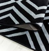 Adana Carpets Modern vloerkleed - Streaky Square Zwart