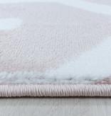 Adana Carpets Modern vloerkleed - Streaky Pattern Roze Wit