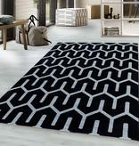 Adana Carpets Modern vloerkleed - Streaky Pattern Zwart Wit