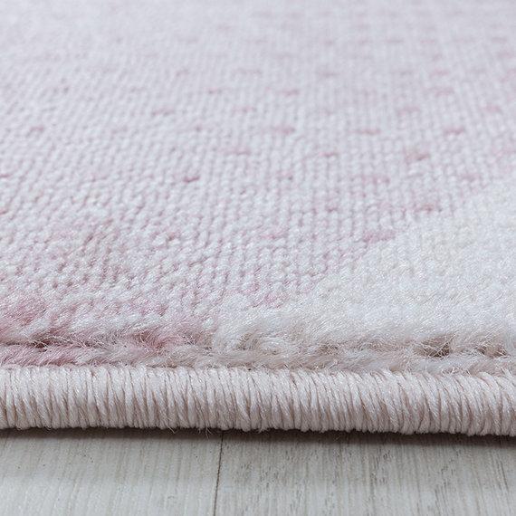 Adana Carpets Modern vloerkleed - Streaky Waves Roze Creme