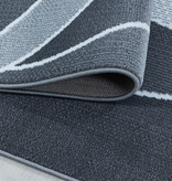 Adana Carpets Modern vloerkleed - Streaky Waves Grijs Wit