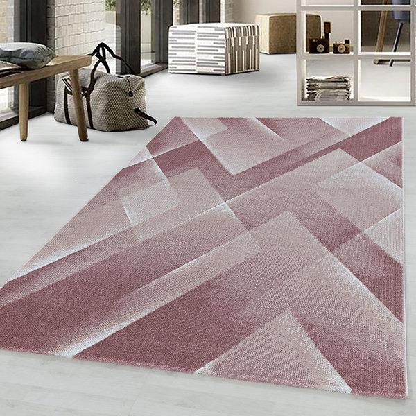 Modern vloerkleed - Streaky Lines Roze