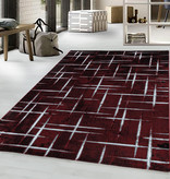 Adana Carpets Modern vloerkleed - Streaky Skretch Rood Wit