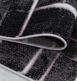 Adana Carpets Modern vloerkleed - Streaky Skretch Roze Wit