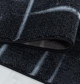 Adana Carpets Modern vloerkleed - Streaky Skretch Zwart Grijs