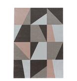 Adana Carpets Retro vloerkleed - Stencil Box Roze Bruin
