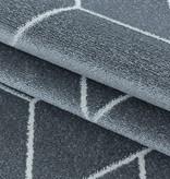 Adana Carpets Retro vloerkleed - Stencil Triangle Grijs Wit