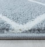 Adana Carpets Retro vloerkleed - Stencil Pattern Grijs Wit