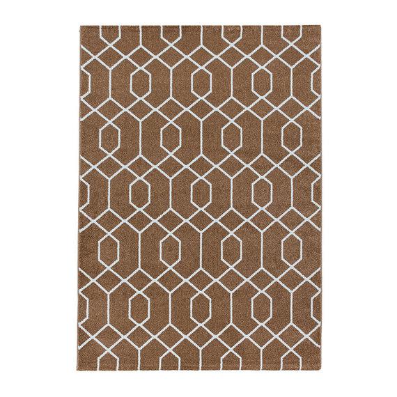 Adana Carpets Retro vloerkleed - Stencil Pattern Bruin Wit