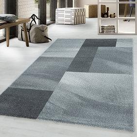Adana Carpets Retro vloerkleed - Stencil Rectangles Grijs Antraciet
