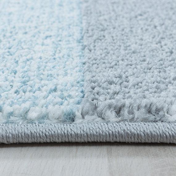 Adana Carpets Retro vloerkleed - Stencil Rectangles Blauw Grijs