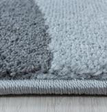 Adana Carpets Retro vloerkleed - Stencil Forms Roze Grijs