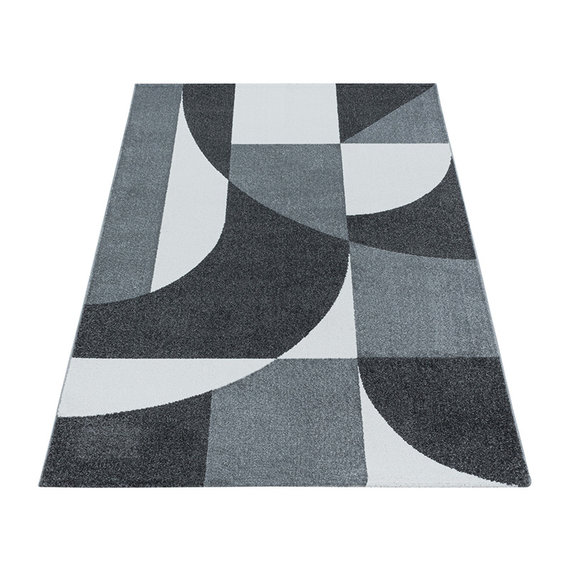 Adana Carpets Retro vloerkleed - Stencil Forms Antraciet Grijs