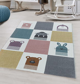Adana Carpets Kindervloerkleed - Fleurtje Dieren Multicolor